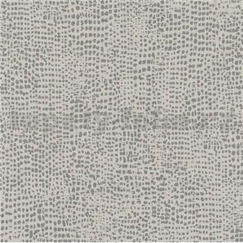 Vliesové tapety na zeď La Veneziana IV tečky stříbrné na hnědém podkladu