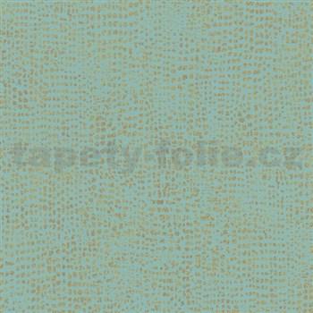 Vliesové tapety na zeď La Veneziana 4 tečky zlaté na zeleném podkladu