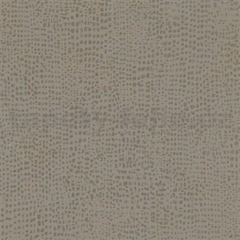 Vliesové tapety na zeď La Veneziana 4 tečky zlaté na hnědém podkladu