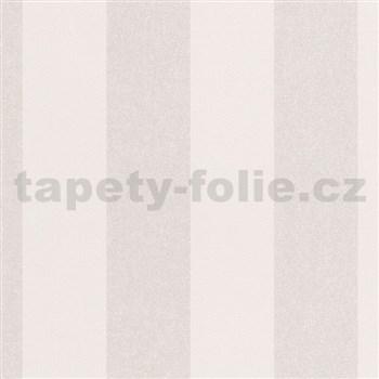 Vliesové tapety na zeď La Veneziana IV pruhy stříbrno-bílé