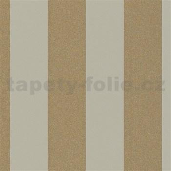 Vliesové tapety na zeď La Veneziana 4 pruhy zlato-šedé