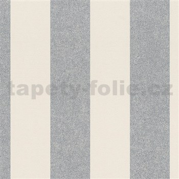 Vliesové tapety na zeď La Veneziana 4 pruhy stříbrno-béžové