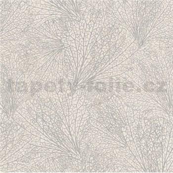 Vliesové tapety na zeď La Veneziana IV pavučina stříbrná na béžovém podkladu