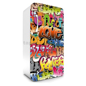 Samolepící tapety na lednici graffiti rozměr 120 cm x 65 cm