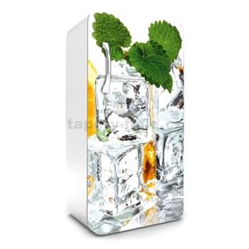 Samolepící tapety na lednici kostky ledu s mátou rozměr 120 cm x 65 cm