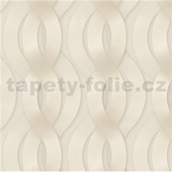 Luxusní vliesové tapety na zeď Colani Legend proplétané vlny světle hnědé