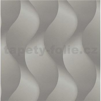 Luxusní vliesové tapety na zeď Colani Legend vlny šedé