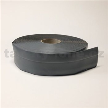 Podlahová lemovka z PVC samolepící šedá 5,3 cm x 25 m