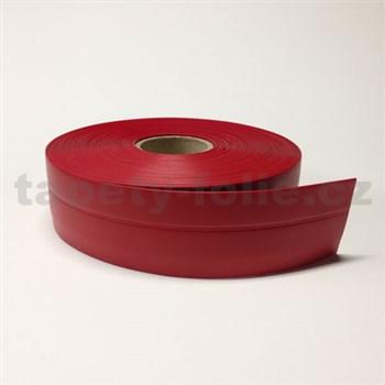 Podlahová lemovka z PVC samolepící červená 5,3 cm x 25 m