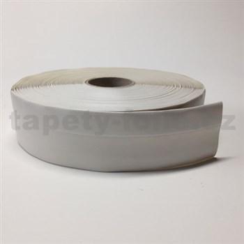 Podlahová lemovka z PVC samolepící bílá 5,3 cm x 25 m