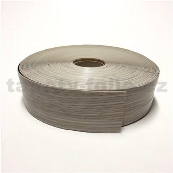 Podlahová lemovka z PVC samolepící dřevo dub světlý 5,3 cm x 30 m