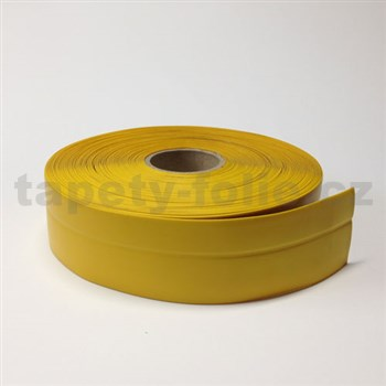 Podlahová lemovka z PVC žlutá 5,3 cm x 20 m
