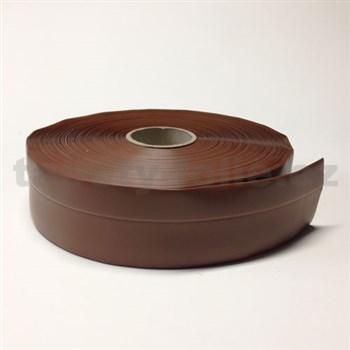 Podlahová lemovka z PVC čokoládově hnědá 5,3 cm x 40 m