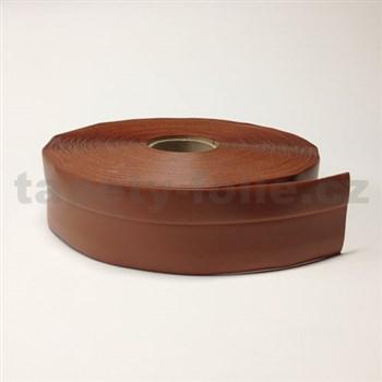 Podlahová lemovka z PVC tmavě hnědá 5,3 cm x 40 m