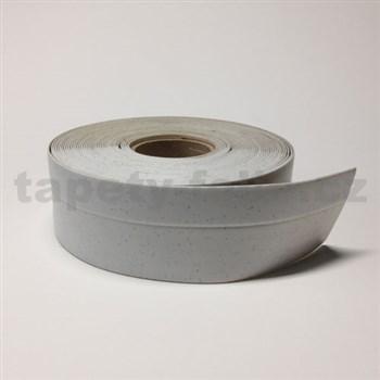 Podlahová lemovka z PVC bílá s šedým žíháním 5,3 cm x 40 m