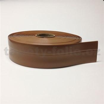 Podlahová lemovka z PVC samolepící světle hnědá 5,3 cm x 25 m