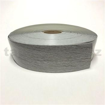 Podlahová lemovka z PVC dřevo dub šedý 5,3 cm x 40 m