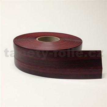 Podlahová lemovka z PVC dřevo červeno-hnědé 5,3 cm x 40 m