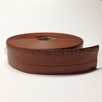 Podlahová lemovka z PVC dřevo hnědé 5,3 cm x 40 m