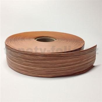 Podlahová lemovka z PVC jilm hnědo-béžový 5,3 cm x 40 m
