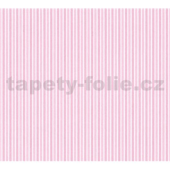 Dětské vliesové tapety na zeď Little Stars pruhy růžové