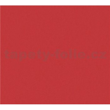 Dětské vliesové tapety na zeď Little Stars jednobarevné červené