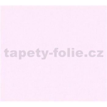 Dětské vliesové tapety na zeď Little Stars jednobarevné světle růžové