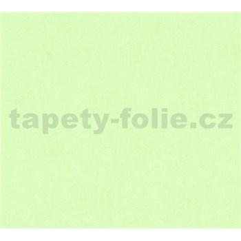 Dětské vliesové tapety na zeď Little Stars jednobarevné zelené