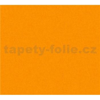 Dětské vliesové tapety na zeď Little Stars jednobarevné oranžové