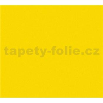 Dětské vliesové tapety na zeď Little Stars jednobarevné žluté