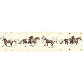 Dětské vliesové bordury Little Stars koně na krémovém podkladu