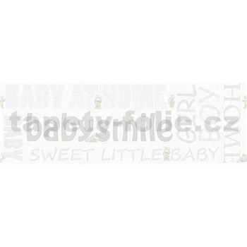 Dětské vliesové bordury Little Stars medvídci se světle hnědými nápisy