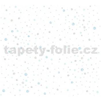 Dětské vliesové tapety na zeď Little Stars balónky modro-hnědé