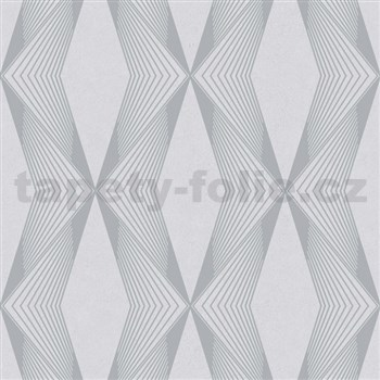 Vliesové tapety na zeď LIVIO geometrický vzor šedý na šedém podkladu POSLEDNÍ KUSY