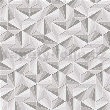 Vliesové tapety na zeď LIVIO jehlany šedo-stříbrné - POSLEDNÍ KUSY