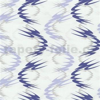 Tapety na zeď Lofty - vlnovky modré