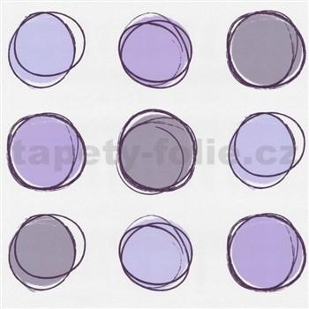 Tapety na zeď Lofty - kruhy fialové