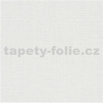 Vliesové tapety na zeď IMPOL Luna textilní struktura bílá