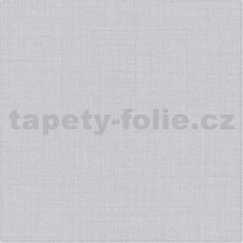 Vliesové tapety na zeď IMPOL Luna textilní struktura šedá se stříbrným třpytem