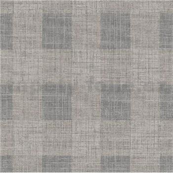 Vliesové tapety na zeď IMPOL Luna2 károvaný vzor hnědo-šedý se stříbrnou nití