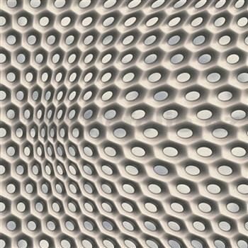 Vliesové tapety na zeď Harmony Mac Stopa moderní 3D vzor šedo-modrý