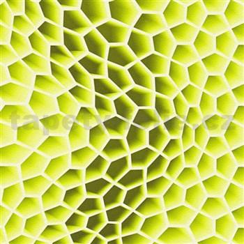 Vliesové tapety na zeď Harmony Mac Stopa 3D plástve zelené - POSLEDNÍ KUSY