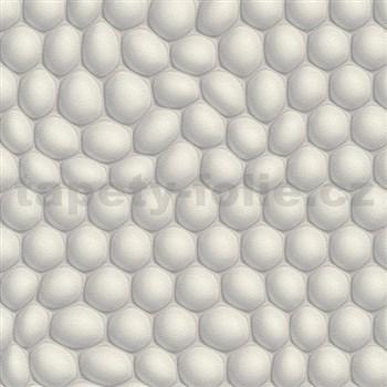 Vliesové tapety na zeď Harmony Mac Stopa 3D bubliny světle šedé