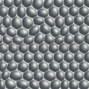 Vliesové tapety na zeď Harmony Mac Stopa 3D bubliny šedé