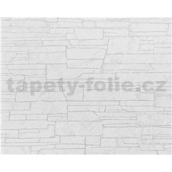 Vliesové tapety na zeď Suprofil- kamenný obklad - bílý odstín
