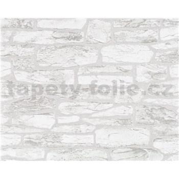 Vliesové tapety na zeď Suprofil- kamenná zeď - šedý odstín