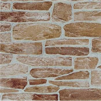 Vliesové tapety na zeď Suprofil- kamenná zeď - cihlový odstín