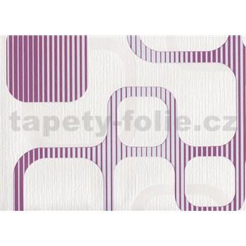 Vliesové tapety WohnSinn Cubes růžovo-fialové