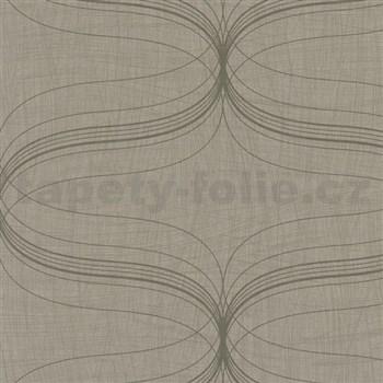 Vliesové tapety na zeď La Veneziana - stříbrný ornament s metalickým efektem - POSLEDNÍ KUSY