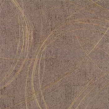 Vliesové tapety na zeď Colani Visions moderní abstrakt hnědý s měděnými odlesky